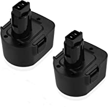Upgraded Powerextra 12 Volt 3000mAh Replacement Battery for Black & Decker PS130 Firestorm 12-Volt Pod Style Battery 2 Pack