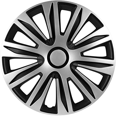 Satz Radzierblenden Nardo 16 Zoll Silber Schwarz Auto
