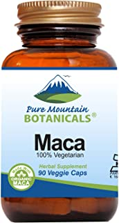 Sponsored Ad - Maca Root Capsules - 90 Kosher Vegan Pills Now with 1000 mg Organic Raw Macca and Gelatinized Maca Root