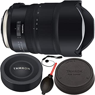 Tamron SP 15-30mm f/2.8 Di VC USD G2 Lens for Canon EF 5PC Bundle – Includes Manufacturer Accessories + Dust Blower + Lens Cap Keeper (Certified Refurbished)