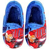 Joah Store Slippers Marvel Avengers Iron Man Flash Beam Boys Warm Indoor Blue Shoes (13 M US Little Kid, Iron Man)