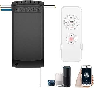 Smart WiFi Fan Switch Ceiling Fan and Light Remote Control Kit, WiFi Fan Controller Compatible with Alexa Google, Phone APP Control, No Hub Required, Universal Ceiling Fan Light Remote Control