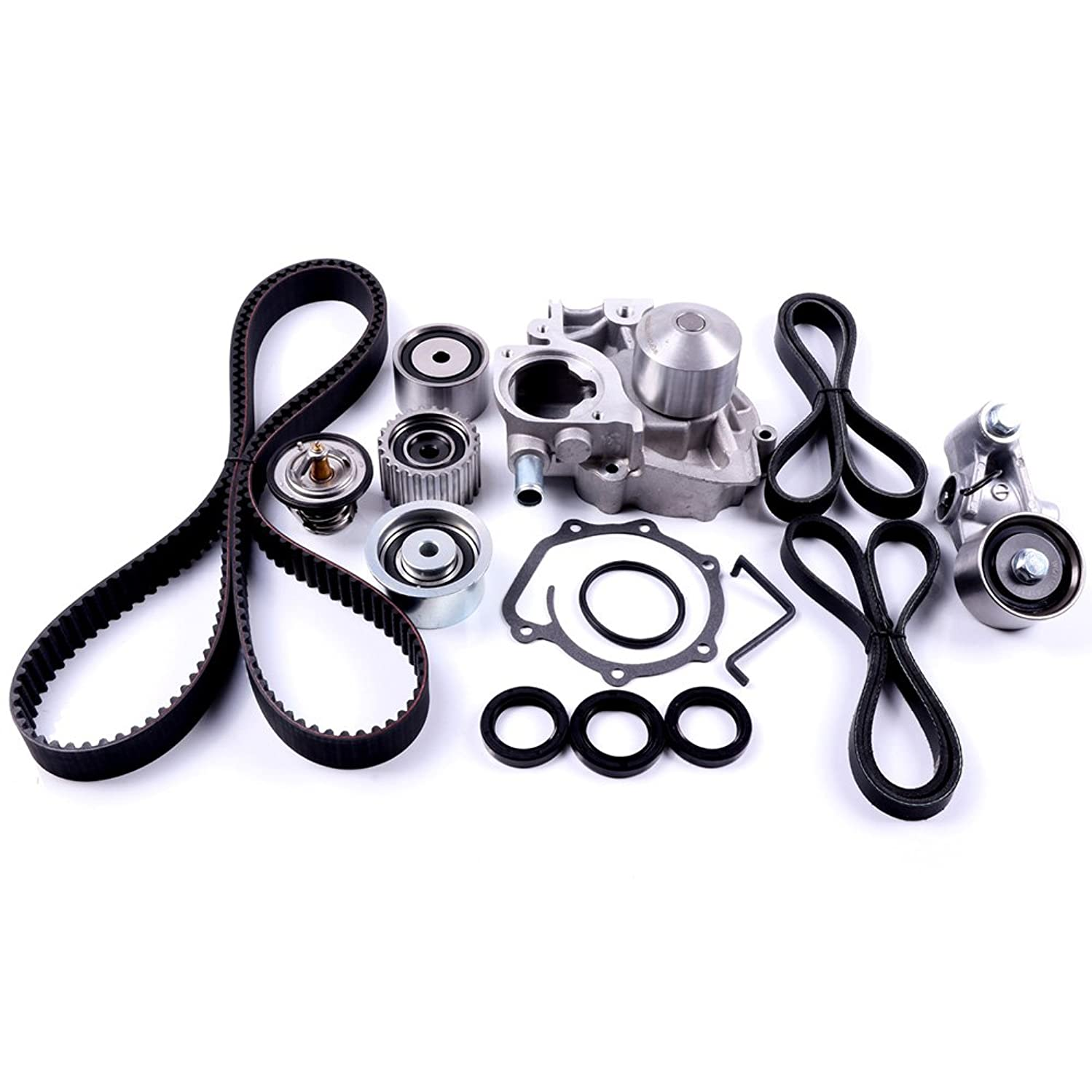 SCITOO Engine Timing Part Belt Set Timing Belt Kits, fit Subaru Outback 2.5L SOHC H4 Non-Turbo 2006-2009 Replacement Timing Tools with Water Pump