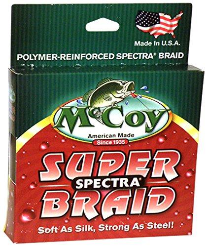 McCoy Fishing Super Spectra Braid Fishing Line, Mean Green, 150-Yard/4-Pound