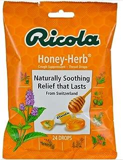 Ricola Cough Suppressant Throat Drops, Honey-Herb 24 ea (Pack of 5)