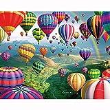 HLH Globo Aerostático Cuadro Numeros para Pintar 15.6x19.5 Pulgadas Laminas Numeros Pintar para Adultos Niños(Sin Marco)