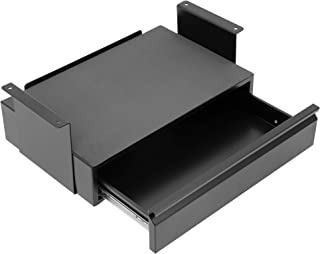 $79 » Mount-It! Under Desk Pull-Out Drawer Kit with Laptop and Tablet Shelf | Office Storage Organizer | Mounts to Desktops Tables and Workbenches Over 0.71 Inches Thick | Matte Black