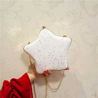 Women's Cute Evening Bag, Chain Messenger Bag, Clutch Bag, Party Bag, Suitable for Wedding, Banquet (Color : White)