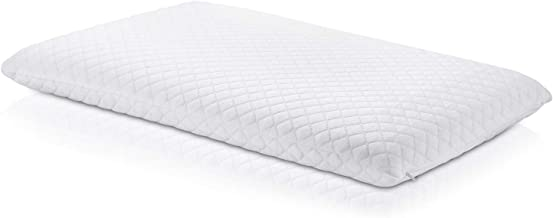 Ultra Slim Sleeper Memory Foam Pillow: Extra Low Profile, Cotton Cover, Only 3 Inches Thick. Best Flat for Stomach, Back, or Side Sleepers
