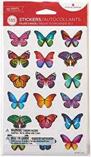American Greetings Butterflies and Flowers Sticker Sheets (165-Count)