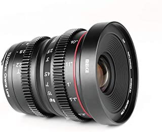 Meike 25mm T2.2 Manual Focus Prime Mini Cinema Lens for Micro Four Thirds MFT M43 Mount Cameras Work for BMPCC 4K Lumix, O...