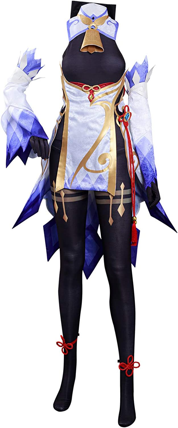 NGOVINY Women's Safety and trust Genshin Impact Costume OFFicial Dress Ganyu Cosplay