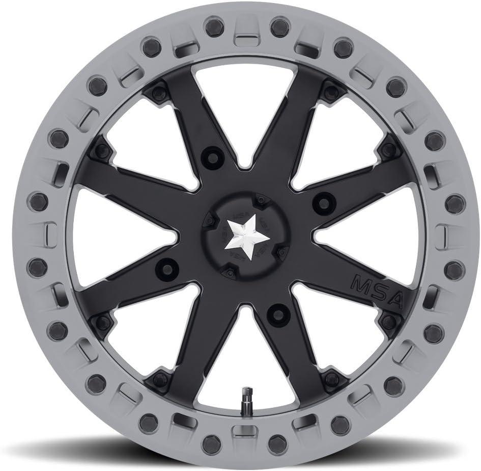MSA OFFROAD WHEELS Japan's largest assortment M31 LOK2 Satin Ring Wheel Gray Matte wi Black Max 43% OFF