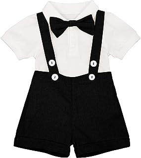 Ahatech Unisex Baby Romper Bib Pants Jeans Outfits Hosentr/äger Latzhose