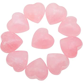 rockcloud Healing Crystal 0.5 inch Rose Quartz Carved Worry Stone Chakra Reiki Balancing(Pack of 10)