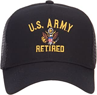 e4Hats.com US Army Retired Military Embroidered Mesh Cap