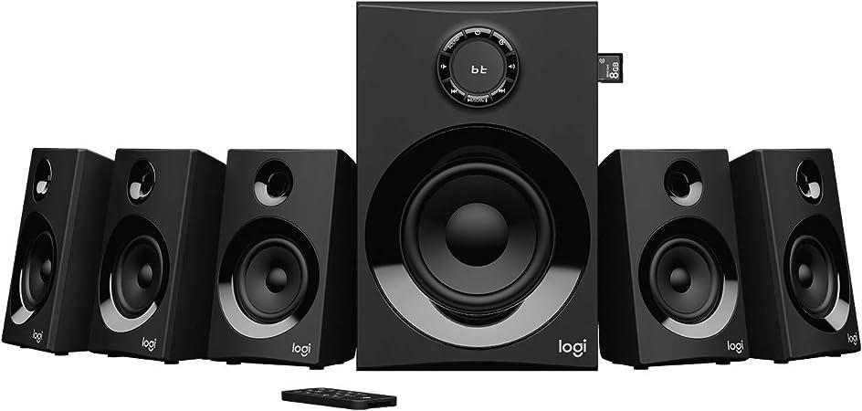 -Logitech Z607 Draadloos Bluetooth 5.1 Speaker Systeem, Surround Sound, 160 Watt Piekvermogen, Booming Bass, 3.5mm Audio & RCA Input, USB, SD-Card, PC/TV/Smartphone/Tablet/Muziekspeler - Zwart-aanbieding