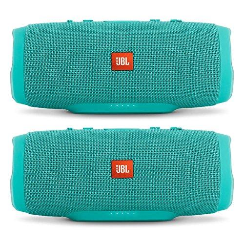 JBL Charge 3 Waterproof Portable Bluetooth Speaker - Pair (Teal/Teal)