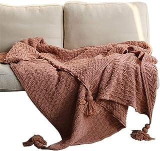 noyydh بطانية أريكة زخرفية بطانية، مكتب الغداء كسر الكروشيه بطانية، بطانية واحدة 130x160cm