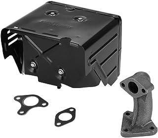 Niunion Conjunto de silenciador, Conjunto de silenciador de generador eléctrico Compatible con Piezas de Motor de Gasolina Honda GX340 GX390 182F 188F