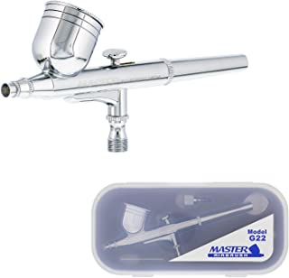 Master Airbrush Model G22 Multi-Purpose Dual-Action Gravity Feed Airbrush Set with a 0.3mm Tip and 1/3 oz. Fluid Cup - Use...