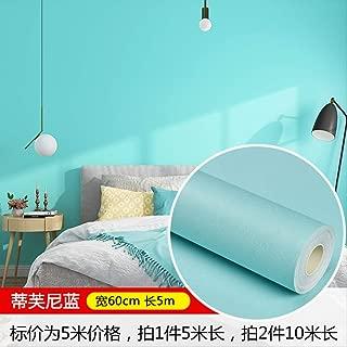 Wallpaper self-Adhesive Wallpaper Bedroom Warm Wallpaper Waterproof PVC Pure Color Plain Dormitory Bedroom Wall Sticker Furniture refurbishment Sticker
