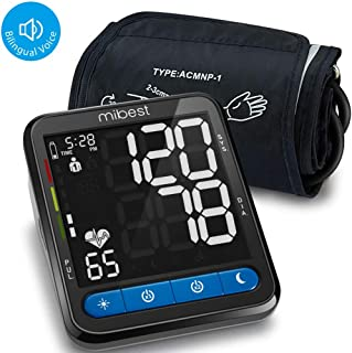 MIBEST Blood Pressure Monitor with Talking Function - Blood Pressure Cuff with Large Display - 8.7