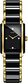 Rado Integral Jubile Two-tone Black Ceramic and Gold Womens Watch - R20845712