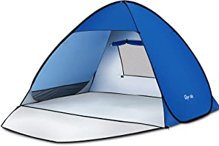 Glymnis Pop Up Beach Tent Sun Shade Shelter withExtendable Floor Carrying Bag 6 Tent Nails for Beach Camping and Hiking