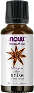 NOW Essential Oils, Anise Oil, Balancing Aromatherapy Scent, Steam Distilled, 100% Pure, Vegan, Child Resistant Cap, 1-Ounce