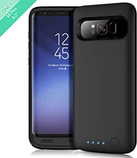 Feob Battery Case for Galaxy S8 Plus, Upgraded 6500mAh Portable Rechargeable Charger Case Extended Battery Pack for Samsung Galaxy S8 Plus Protective Charging Case for Galaxy S8+(6.2 inch) -Black