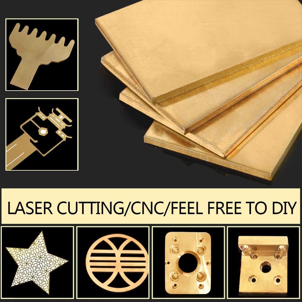 LOKIH Brass Sheet Percision Metals Brass Sheet Metal Rack 150x150mm//6x6inch,1 pcs,1.5mm//0.06inch