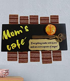 Karigaari India Mdf Mom's Cafe Kitchen Name Plate