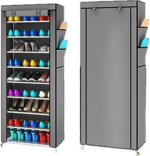 Estantería armario zapatero 10pisos Cabinet mueble almacenaje multifunción con funda cremallera 60x 30x 168cm
