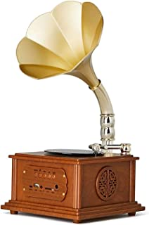 $285 » CHUXJ Mini Vintage Retro Classic Gramophone Phonograph Shape Stereo Speaker Sound System Music Box (Color : B)