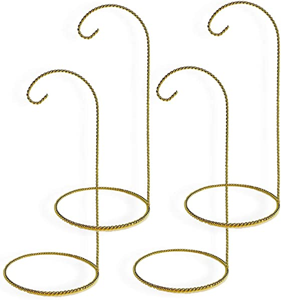 Christmas Ornament Display Stands Twisted Brass 11 Inch Pack Of 4 Pieces