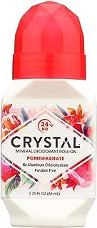 Crystal Essence Mineral Deodorant Roll-On, Pomegranate 2.25 oz