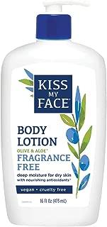 Kiss My Face Sensitive Skin Natural Moisturizer with Olive Oil & Aloe Vera 16 oz
