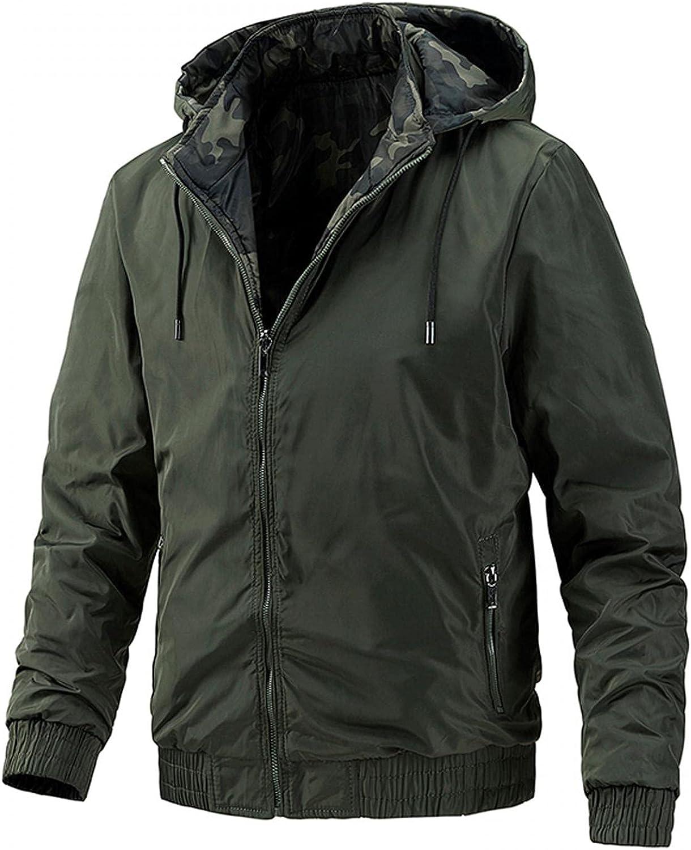 Men's Hooded Jacket Double Wear Zipper Fleece Hoodie Military Tactical Sport Warm Outdoor Adventure Jackets Coats