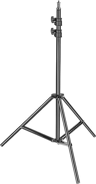 Neewer Soporte de Luz para Trabajo Pesado 92-200cm Soporte Fotográfico Ajustable Trípode Robusto para Reflectores Cajas de Luz Luces Paraguas Capacidad Carga 8kg