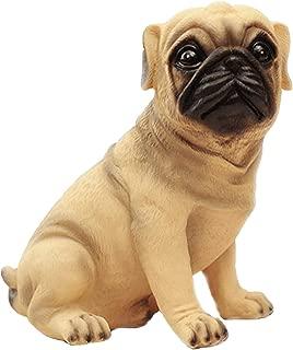 MathewArt High Emulation Resin Creative Cute Puppy Pug Dog Piggy Bank Coin Box