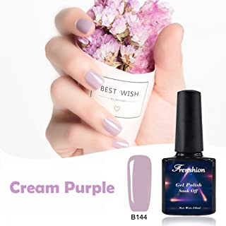 Frenshion 10ML Soak off UV LED Nail Gel Polish Cream Purple B144