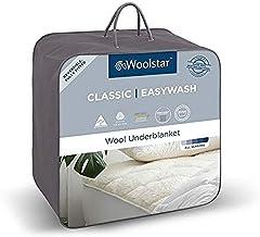 Woolstar Queen Easywash Wool Mattress Topper, Bed 153x203cm