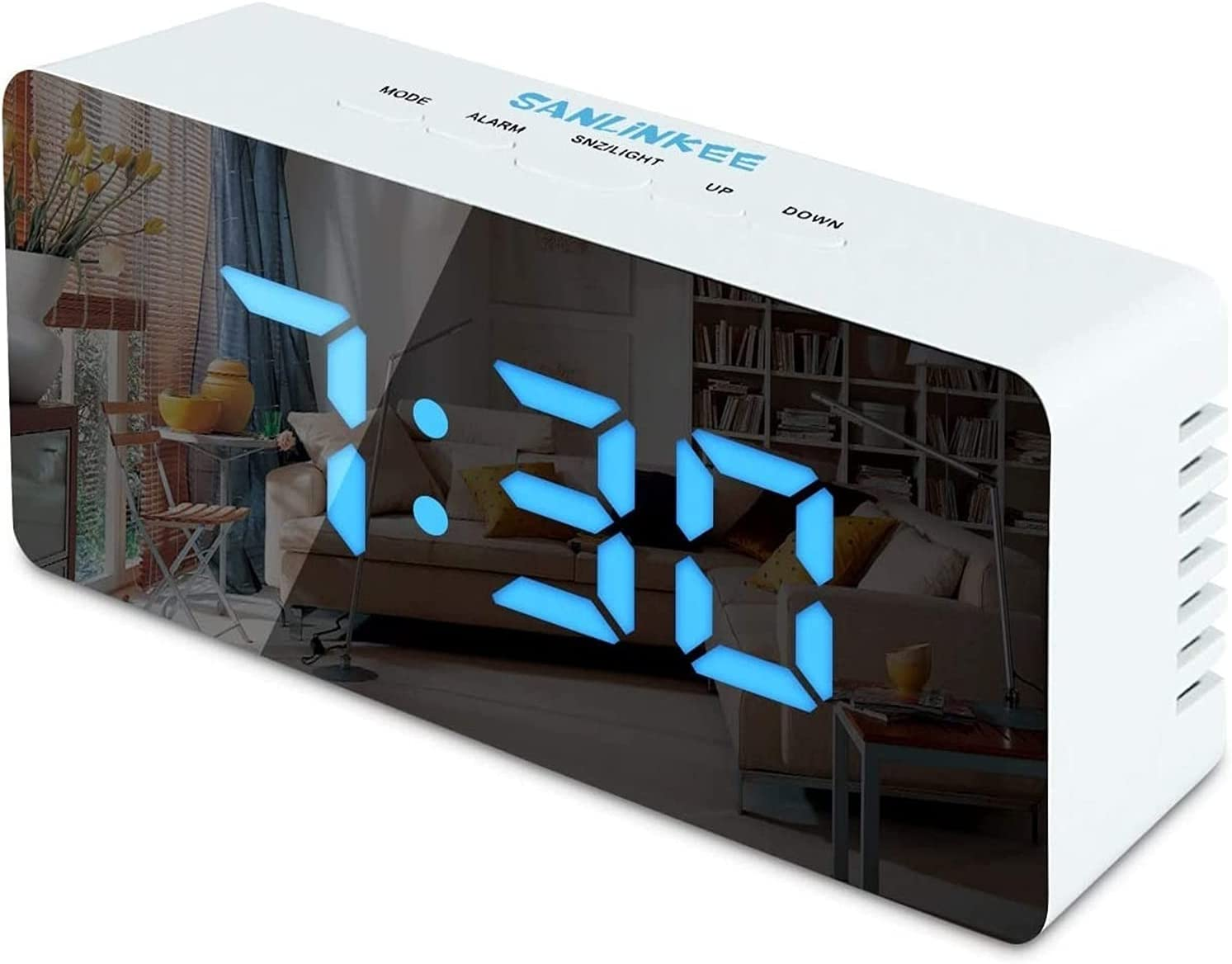 Digital Popular Alarm Clock Bedside Clocks Fees free!! with Snooze Tempe Time