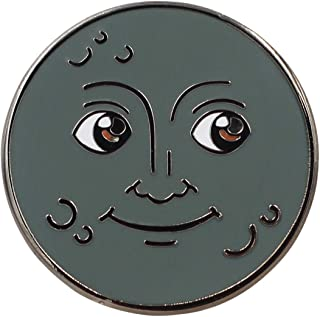 Real Sic Moon Emoji Enamel Pin - Full Moon & New Moon Lapel Pin - Cute, Kawaii & Occult Pins for Jackets, Backpacks, Hats, Bags & Tops