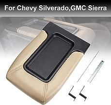 Silverado Center Console Lid 924811 Sierra Armrest Cover, Beige