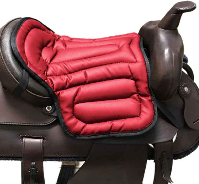Cojín de asiento de silla de vaca Transporte Doma de impacto Amortiguador Montar a caballo Montar a caballo Pad transpirable Asiento Cojín Resistente al desgaste Apariencia Ecuestre al aire libre PU C