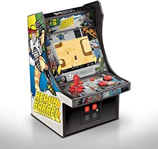 My Arcade Micro Player Mini Arcade Machine: Heavy Barrel Video Game, Fully Playable, 6.75 Inch Collectible, Color Display, Speaker, Volume Buttons, Headphone Jack, Battery or Micro USB Powered