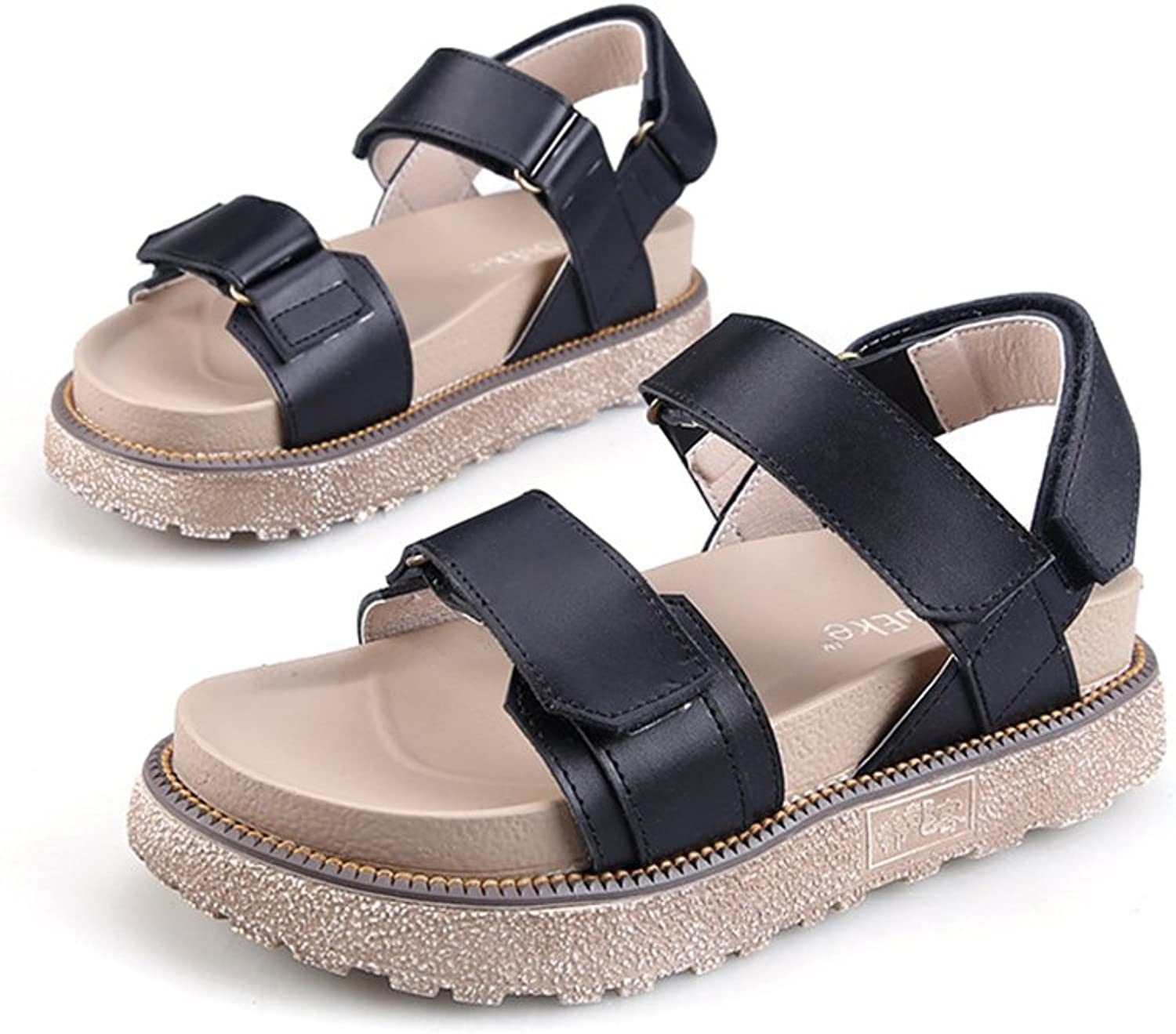 Reiny Women's Summer Casual Leather Anti-Skid Outdoor Sandals