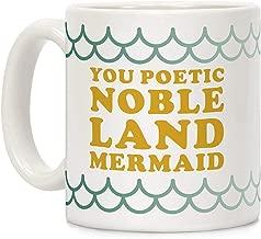 SHJZJN You Poetic Noble Land Mermaid White 11 Ounce Ceramic Coffee Mug